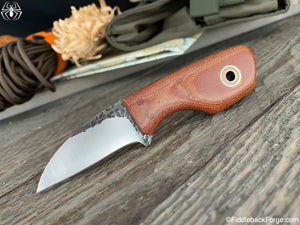 Fiddleback Forge Talon - CPM 154 - Natural Canvas - Fiddleback Forge Handmade Knife