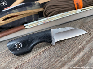 Fiddleback Forge Talon - CPM 154 - Black Canvas - Fiddleback Forge Handmade Knife