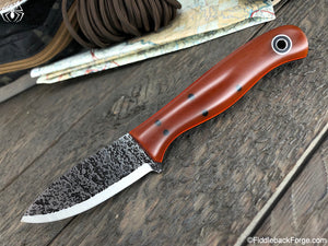 Fiddleback Forge Toboggan - Cross Cut Natural Paper Micarta - SCANDI