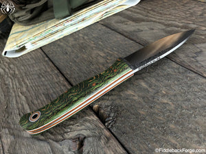 Fiddleback Forge Toboggan - Green Quarter Sawn Curly Oak