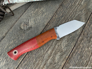 "Fiddleback Forge ""One Off"" Utility Finger - Fire Dog Micarta - Fiddleback Forge Handmade Knife"