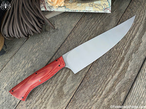 "J.B. Knifeworks 8"" Chef Knife - S35VN - Fire Dog Micarta - J.B. Knifeworks Handmade Knife"