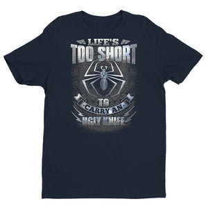Fiddleback Forge T-Shirt - Life's Too Short - Premium Fitted - Men's - Fiddleback Forge - Apparel Apparel