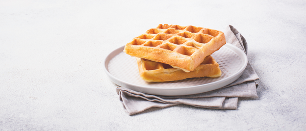 Recipe: Banana Apple Waffles With Sunflower Maple Syrup