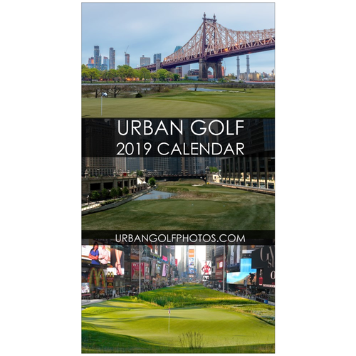 Urban Golf 2019 Wall Calendar