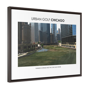 Wabash Avenue and The Chicago River - Framed Premium Gallery Wrap Canvas