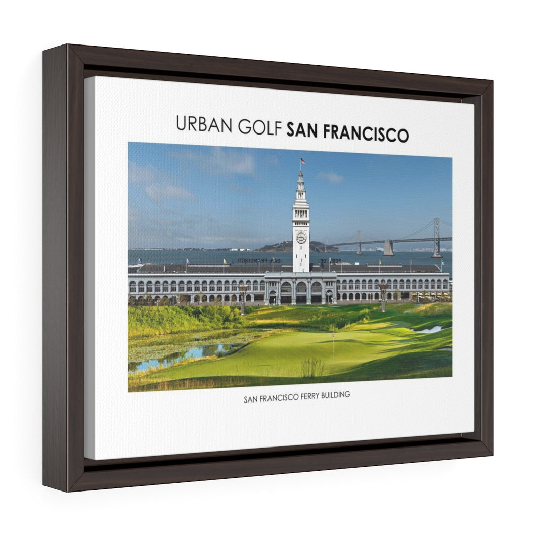 San Francisco Ferry Building - Framed Premium Gallery Wrap Canvas