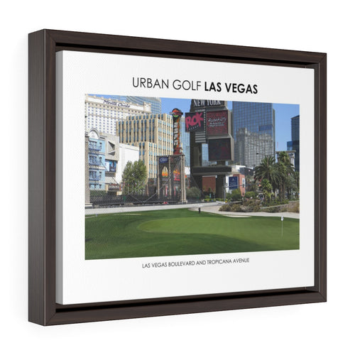 Las Vegas Boulevard and Tropicana Avenue - Framed Premium Gallery Wrap Canvas