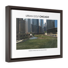 Load image into Gallery viewer, Wabash Avenue and The Chicago River - Framed Premium Gallery Wrap Canvas
