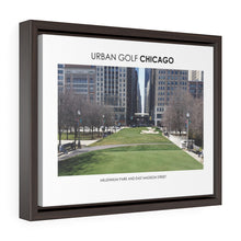 Load image into Gallery viewer, Millennium Park and East Madison Street - Framed Premium Gallery Wrap Canvas