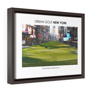 Times Square and Broadway - Framed Premium Gallery Wrap Canvas