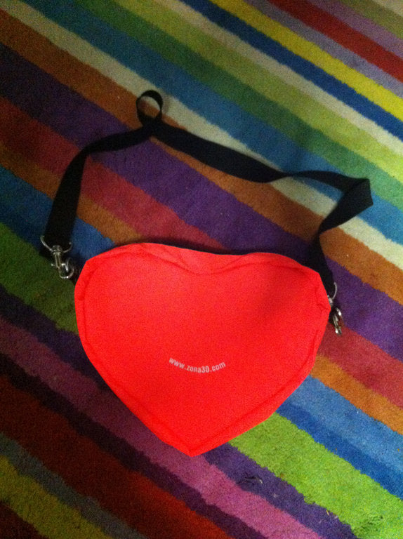 reflective 20cm heart bag