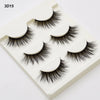 3 pairs /set 3D False Eyelashes Messy Cross Thick Natural Fake Eye Lashes Winged Lashes Makeup Bigeye Long False Eye Lashes 3D15