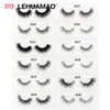 3D Mink eyelash Messy Cross Thick Natural Fake Eye Lashes Professional Makeup Bigeye Eye Lashes Handmade 1pair False Eyelashes
