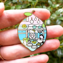Load image into Gallery viewer, Cake baker cat enamel pin