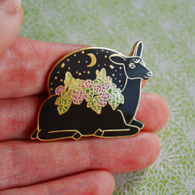 Load image into Gallery viewer, Luna deer enamel pin