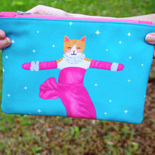 Load image into Gallery viewer, Marilyn Monroe cat fabric pouch - larger size