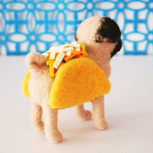 Load image into Gallery viewer, Needle felted taco pug
