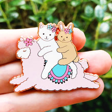 Load image into Gallery viewer, Alpaca ride enamel pin