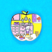 Load image into Gallery viewer, Pie baker cat enamel pin