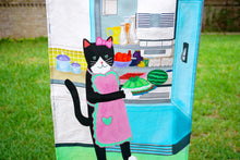 Load image into Gallery viewer, Kitty with jello mold tea towel