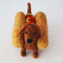 Load image into Gallery viewer, Needle felted brown wiener dog