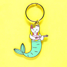 Load image into Gallery viewer, Purrmaid keychain