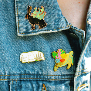 Sleepy lamb enamel pin