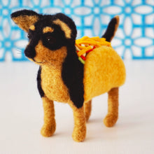 Load image into Gallery viewer, Needle felted taco chihuahua