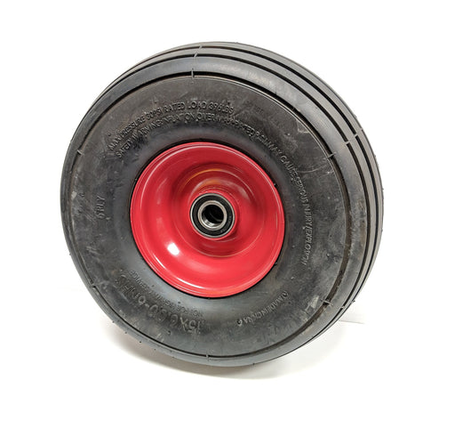 "15 x 6.0-6 Tedder Tire and Wheel, 6-ply, 2"" Bearing Width, For Use with Dust Cap"