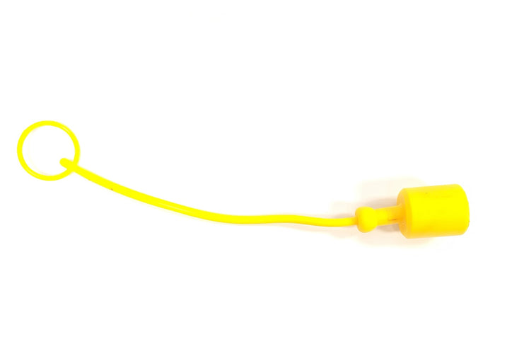 "1/2"" Female Dust Cap for Male Quick Coupler - Yellow"