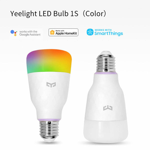 Tunable Dimmable Smart LED Color RGB Light Bulb Wi-Fi E26 E27, works with Google Assistant, Apple Homekit, Alexa,MIJIA