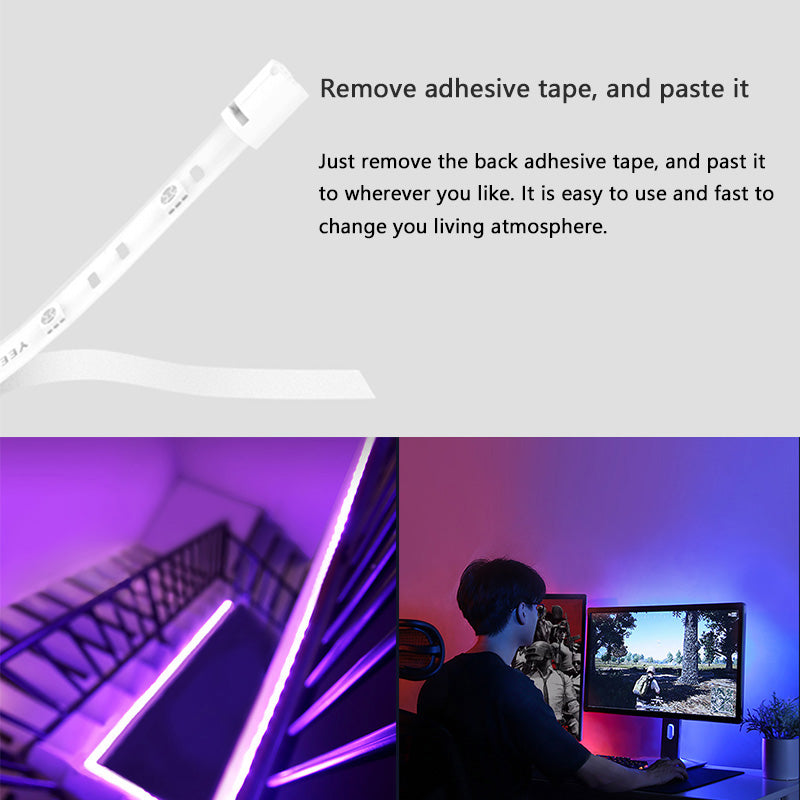 Yeelight Lightstrip PLUS 1m Extension Pack LED RGB Color Strip Lights Work Google Assistant