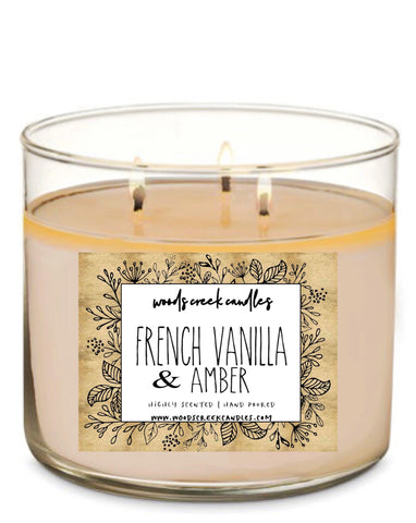 3-wick French Vanilla Amber