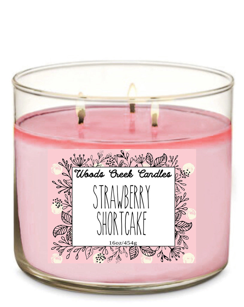 3-Wick Strawberry Shortcake