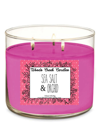 3-Wick Sea Salt & Orchid
