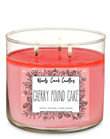 3-wick Cherry Pound Cake