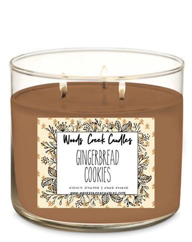 New!  3-wick Gingerbread Cookies