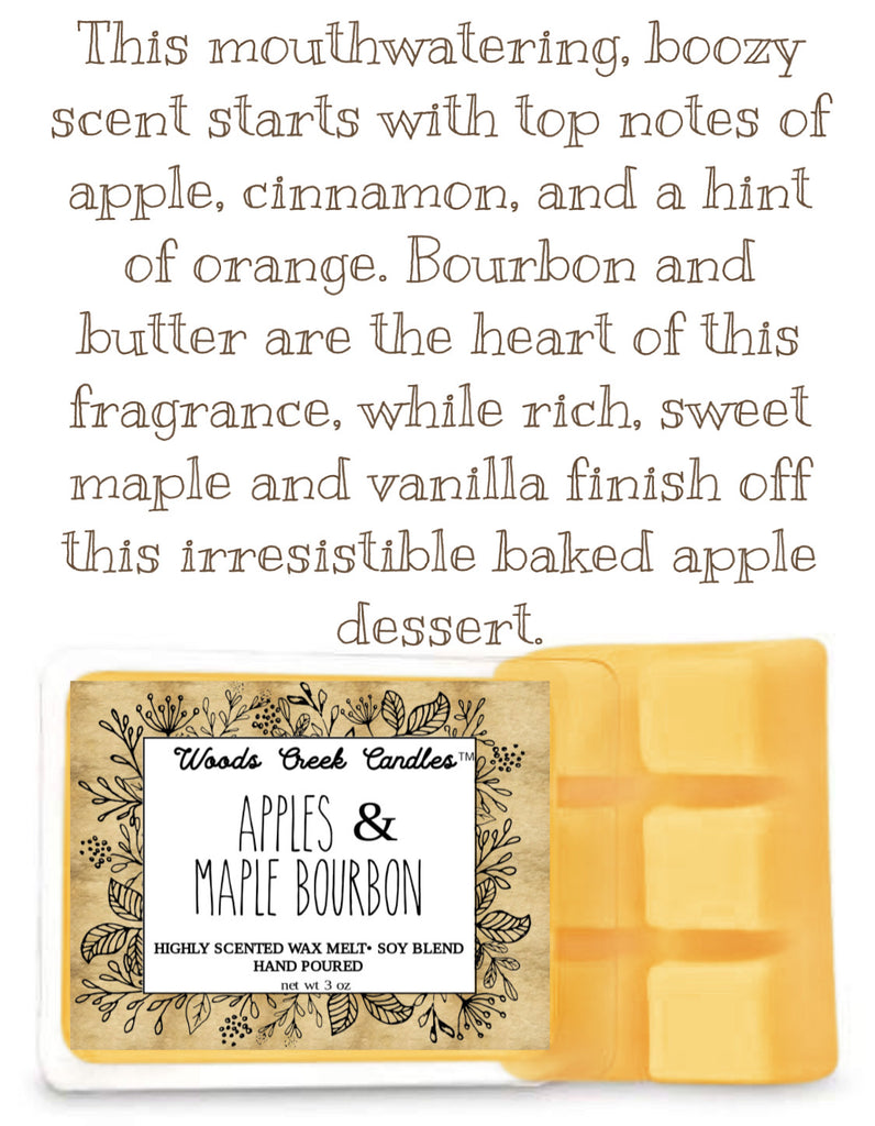 Apples and Maple Bourbon Wax Melt 🥃 🍁