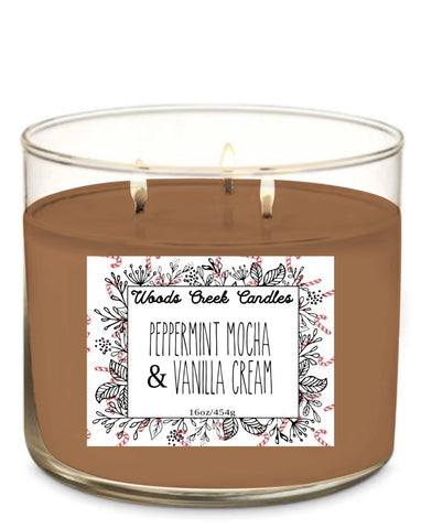 Peppermint mocha & vanilla cream