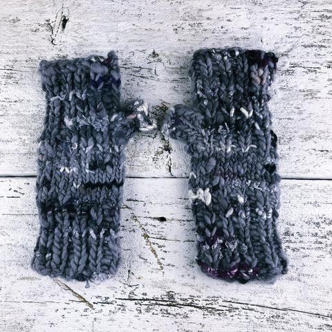 comfy hand knit fingerless gloves