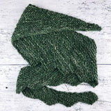 crescent shawl ~ hand knit ~ handspun yarn