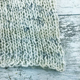 silky soft & spotted ~ hand knit ~ handspun yarn