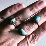 turquoise ring ~ electroformed