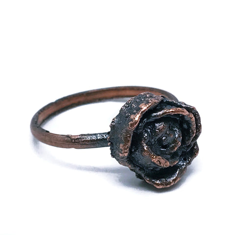 rose ~ flower ring ~ electroformed