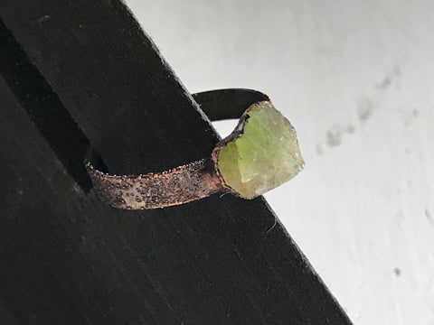 tourmaline ring ~ electroformed ~ size 5.75