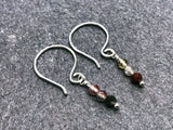 tourmaline & sterling silver earrings