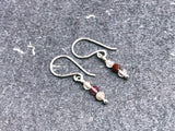 rutilated quartz & sterling silver earrings