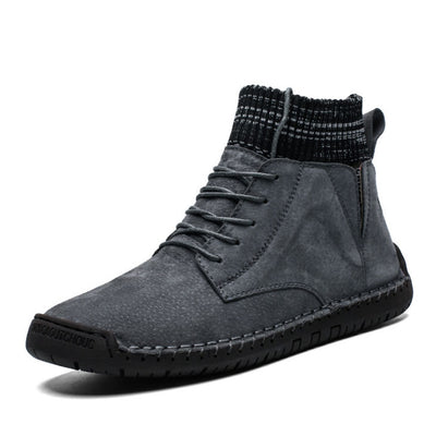 Mojodota Winter-High-Top-Herren plus samtwarme Martin-Stiefel