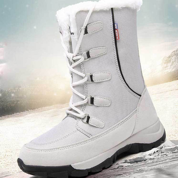 Mojodota Winter Damen plus Samt rutschfeste warme Damenschuhe